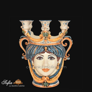 Teste di moro in ceramiche caltagirone