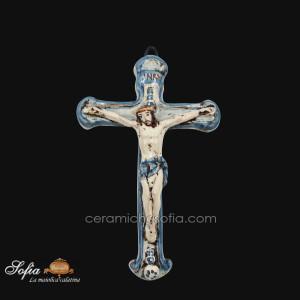 Crocifissi in ceramiche caltagirone