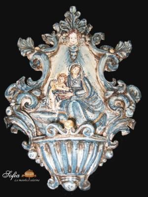 Acquasantiere, ceramiche di caltagirone