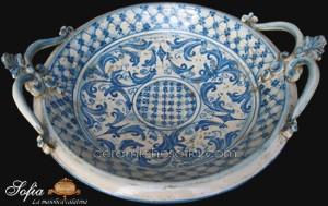 Alzata e Centrotavola, ceramiche artistiche siciliane