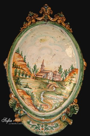 Ovali Ornamentali, ceramiche di caltagirone