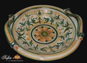 Alzata e Centrotavola, ceramiche di caltagirone