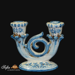Candeliere in ceramiche caltagirone