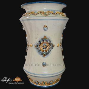 Portaombrelli in ceramiche caltagirone