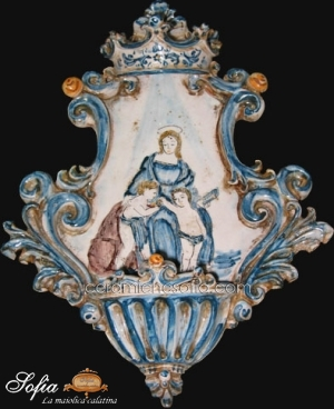 Acquasantiere in ceramiche caltagirone