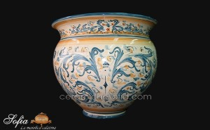 Cachepot in ceramiche caltagirone