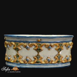 Portapianta in ceramiche caltagirone