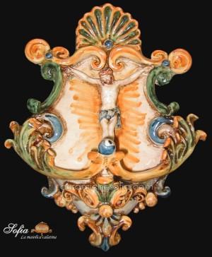 Acquasantiere, ceramiche artistiche siciliane