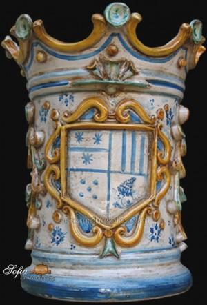 Portaombrelli, ceramiche di caltagirone