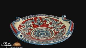 Alzata e Centrotavola in ceramiche caltagirone