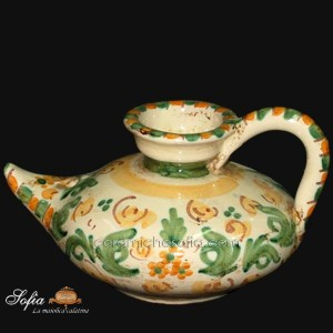 Lucerne in ceramiche caltagirone