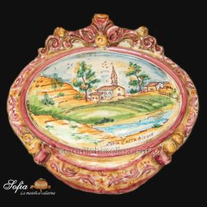 Ovali Ornamentali in ceramiche caltagirone