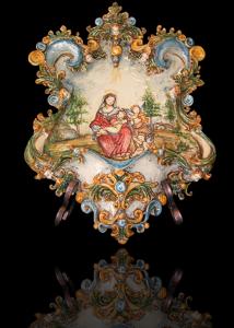 acquasantiere in ceramica di caltagirone