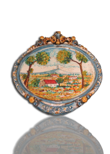 ovali ornamentali in ceramica di caltagirone