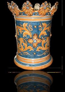 porta ombrelli in ceramica di caltagirone