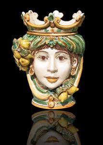 teste di moro in ceramica di caltagirone